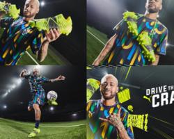 Neymar Jr.viste: botas de fútbol PUMA FUTURE Z 1.1